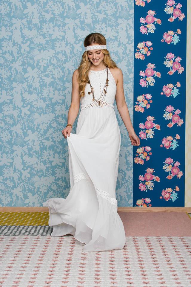 Neckholder Brautkleid im angesagten Ibiza Style  –  Frida