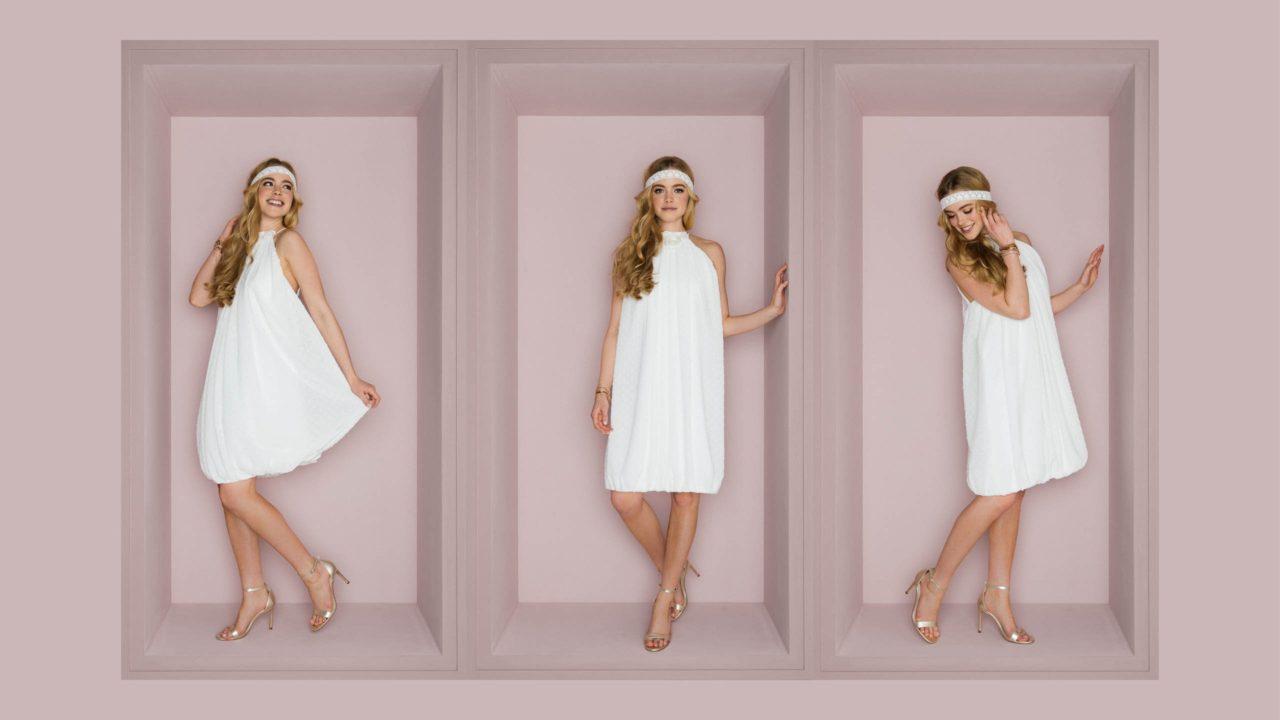 Kurzes Sommer Brautkleid – Malu
