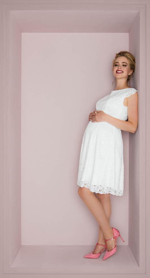 schwanger heiraten Standesamtkleid kurz