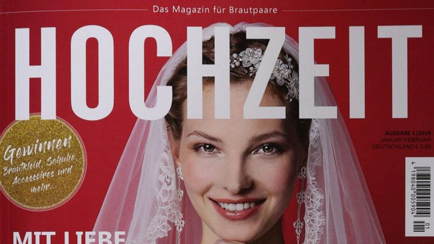 High-class Advertorial mit küssdiebraut im Magazin Hochzeit
