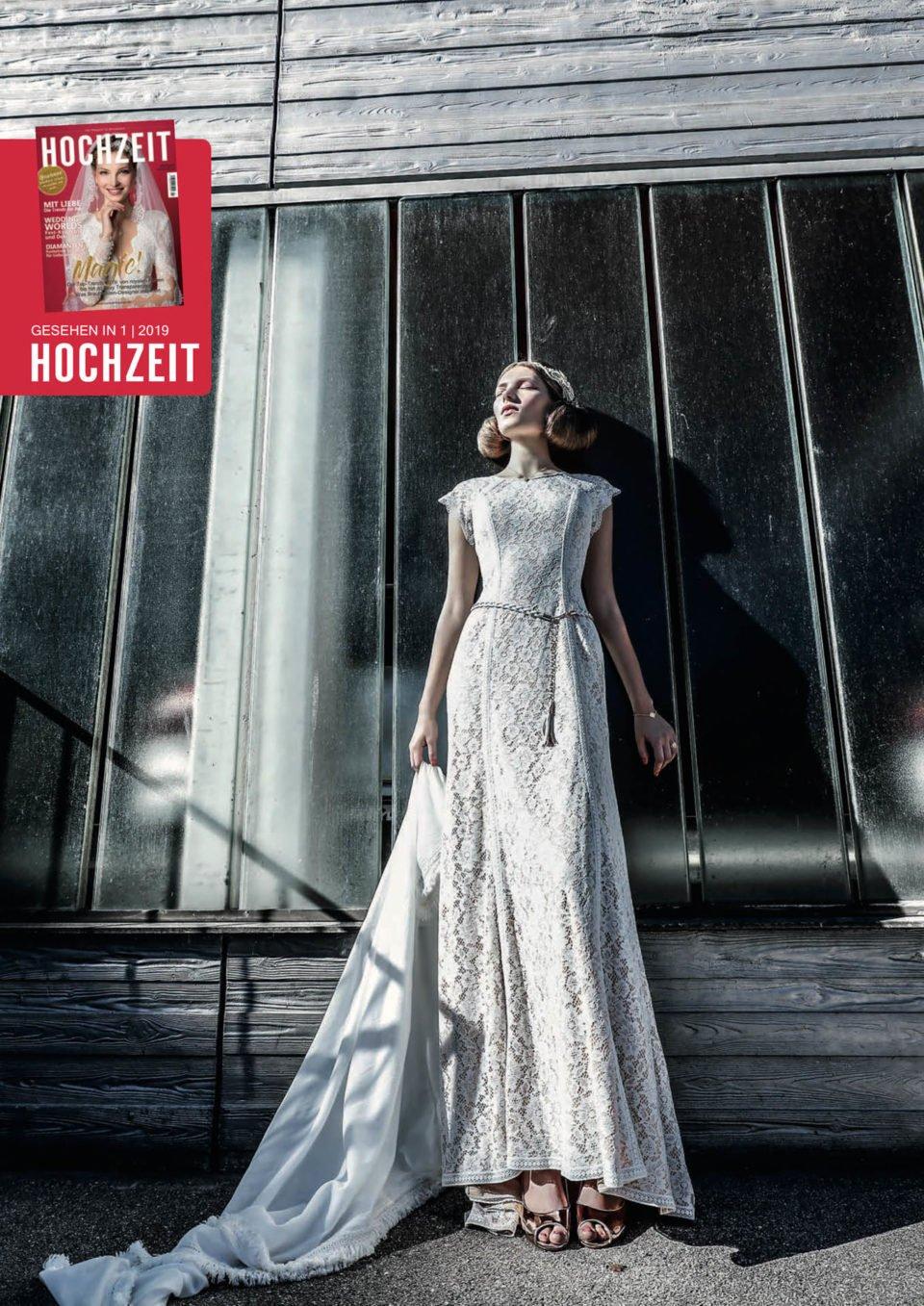 High-class Advertorial mit Boho Brautkleid