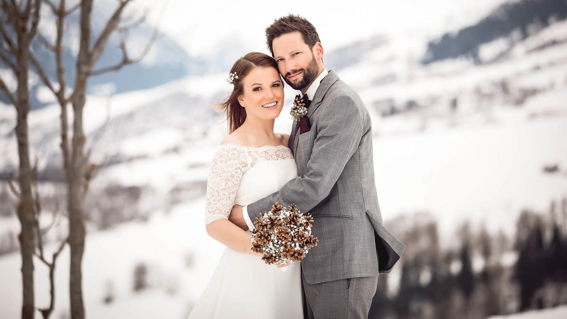 Brautkleid mit Arm Winter