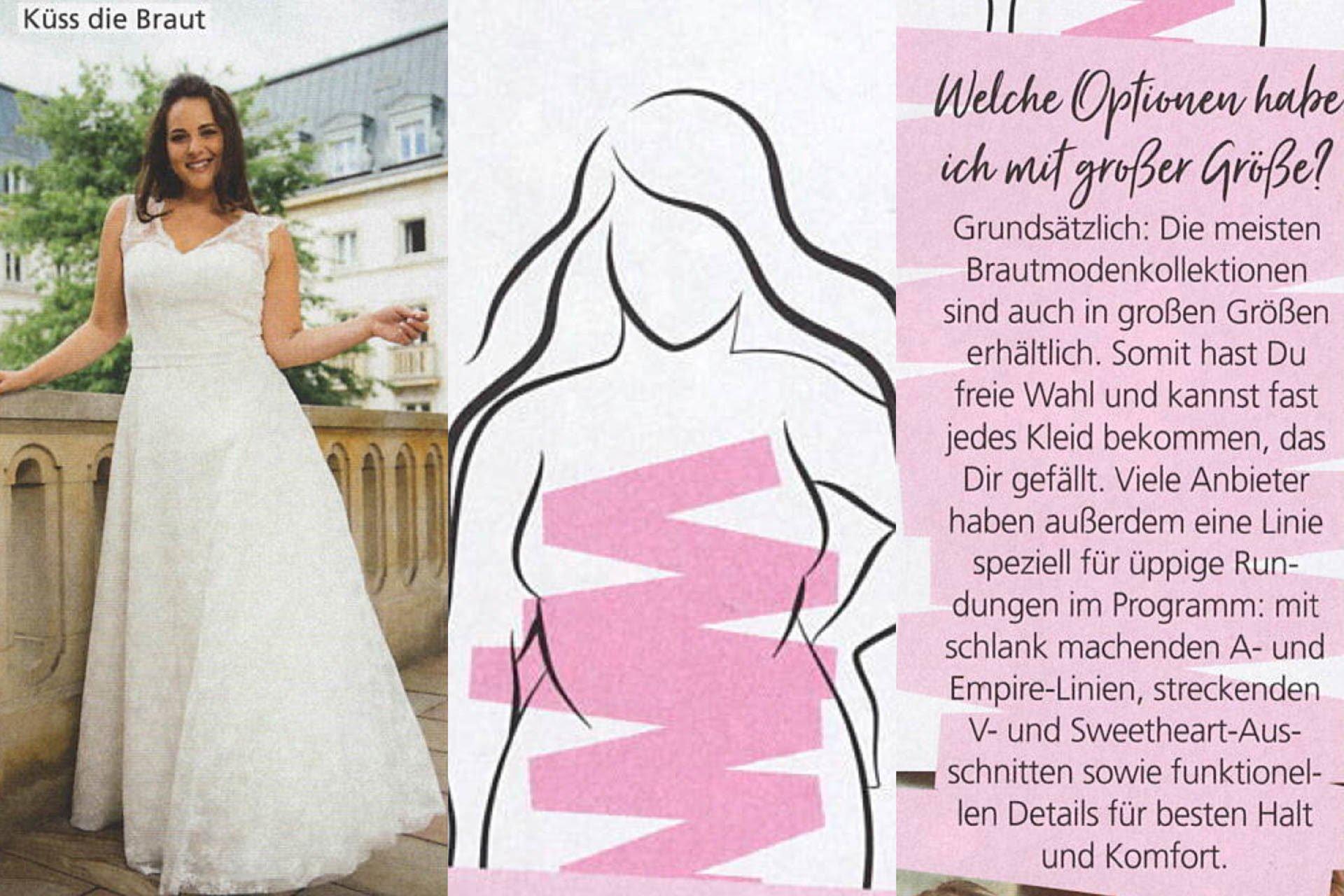 Hochzeitsplaner Magazin - Ratgeber große Größen