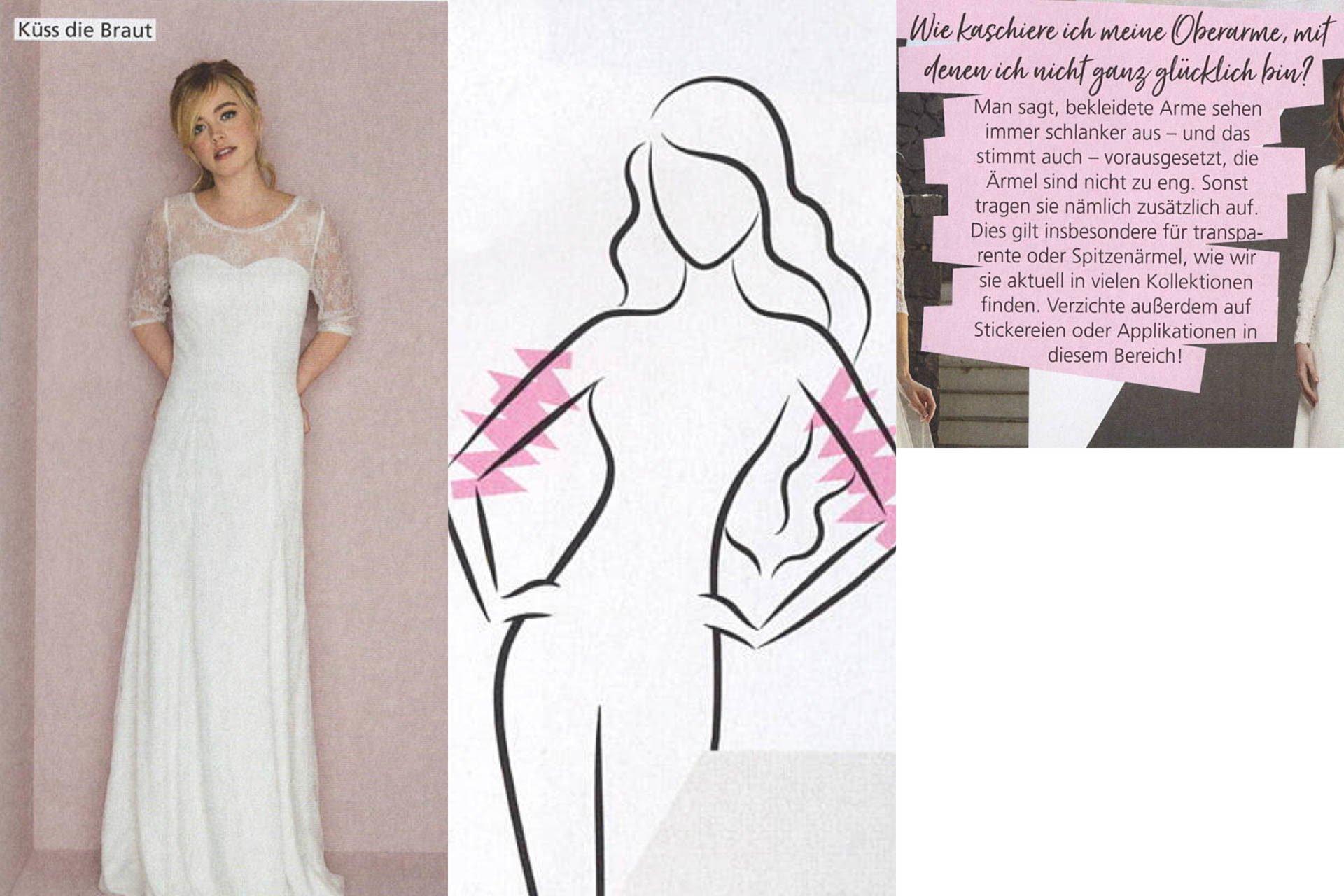 Hochzeitsplaner Magazin - Wie kaschiert die Braut ihre Oberarme?