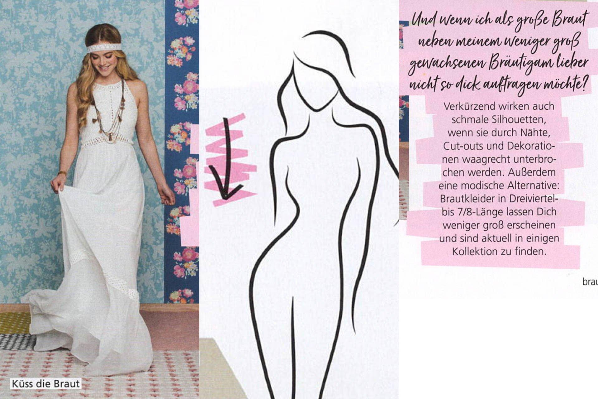 Hochzeitsplaner Magazin mit Hippie Brautkleid
