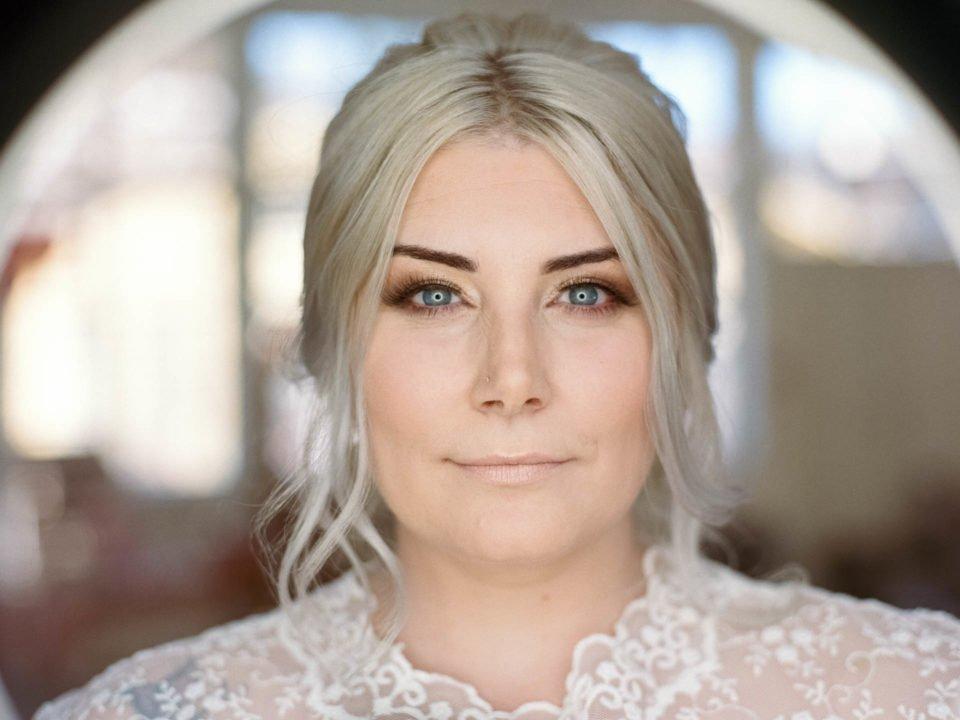 Nahaufnahme vom Gesicht der Braut