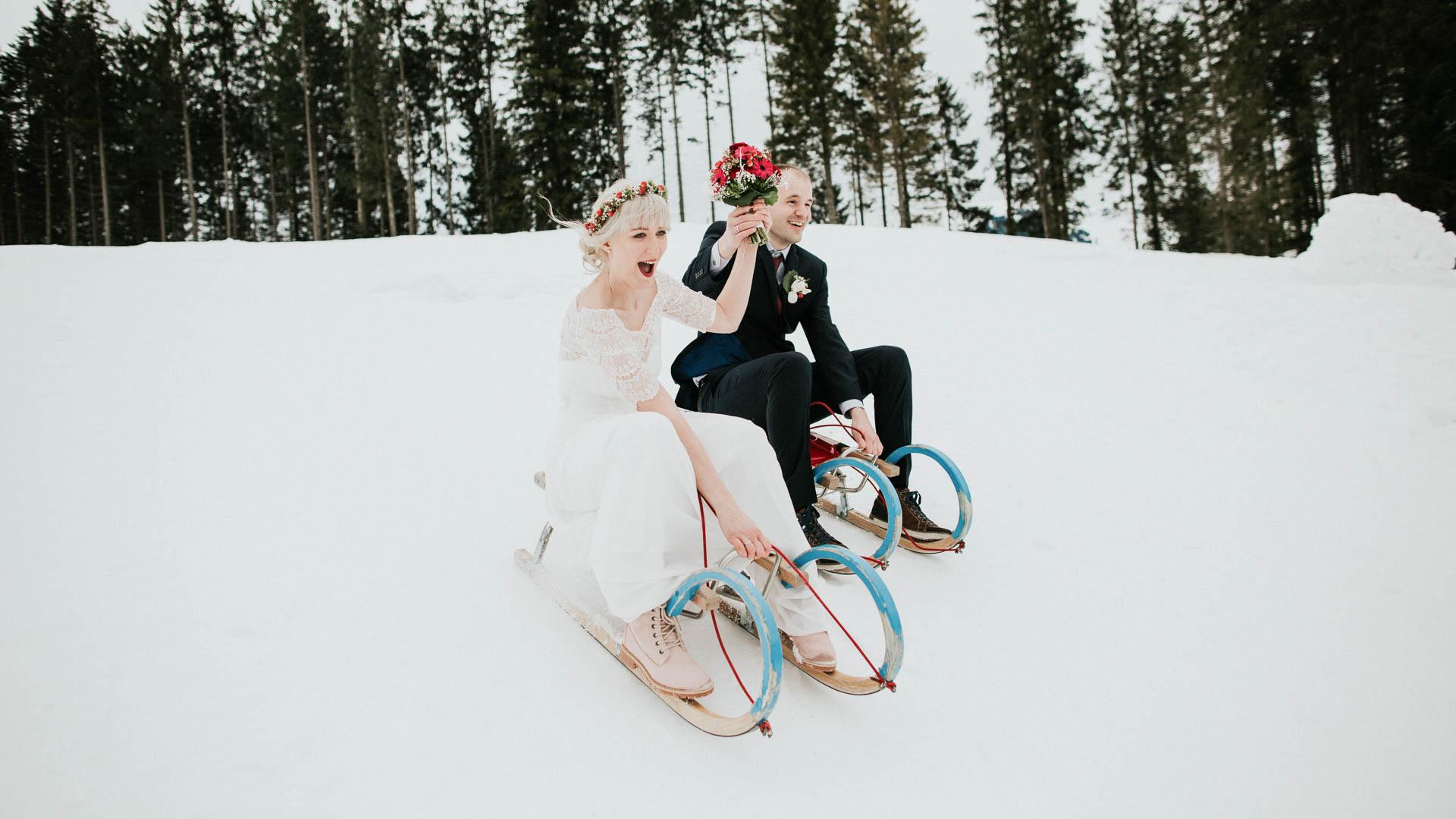 Standesamt Brautkleider für den Winter