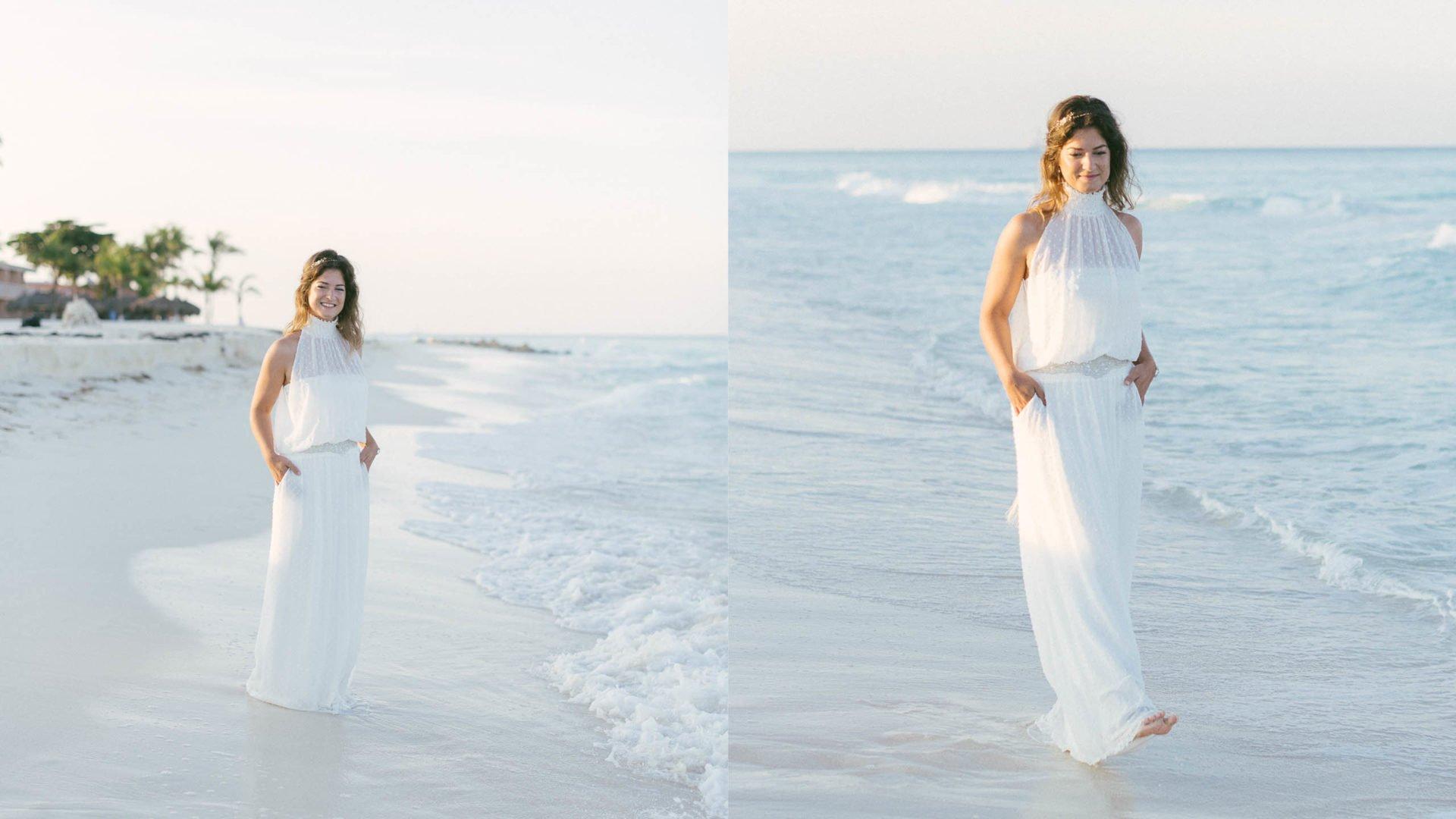 schlichtes Hochzeitskleider