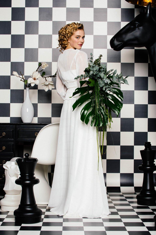 Brautkleid 14er Jahre Flair  Ausgefallenes küssdiebraut Chiffonkleid