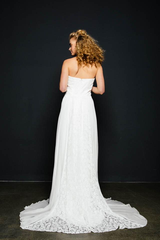 Brautkleid mit Schleppe & Seidenrock im Vintage Stil – Katinka