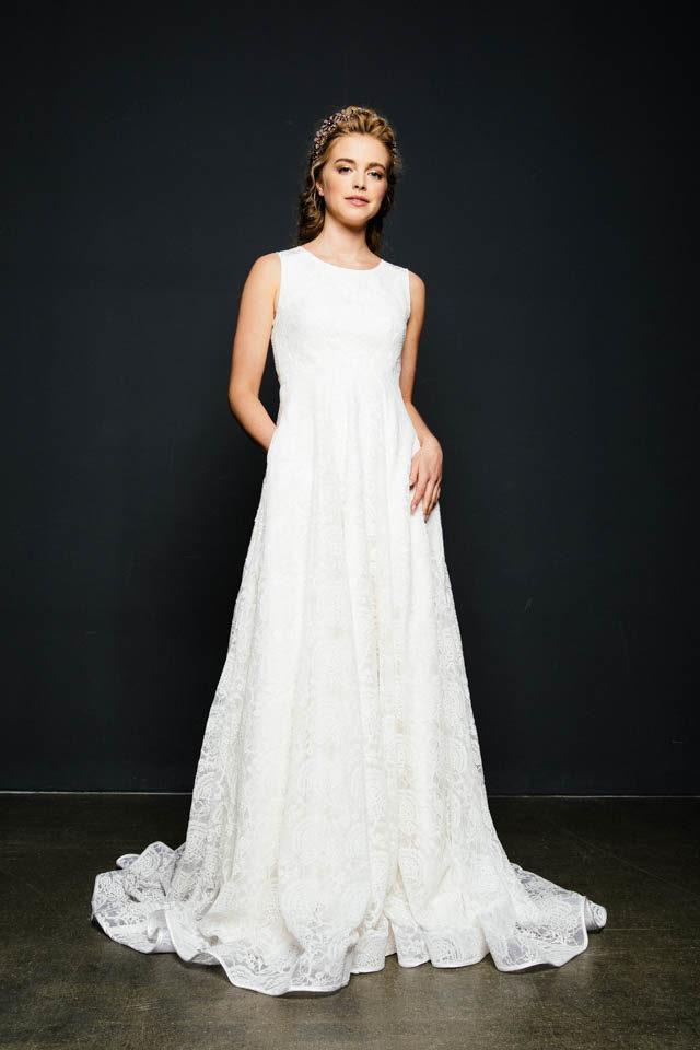 Brautkleid mit Taschen – Vintage Traum in A-Linie – Belle