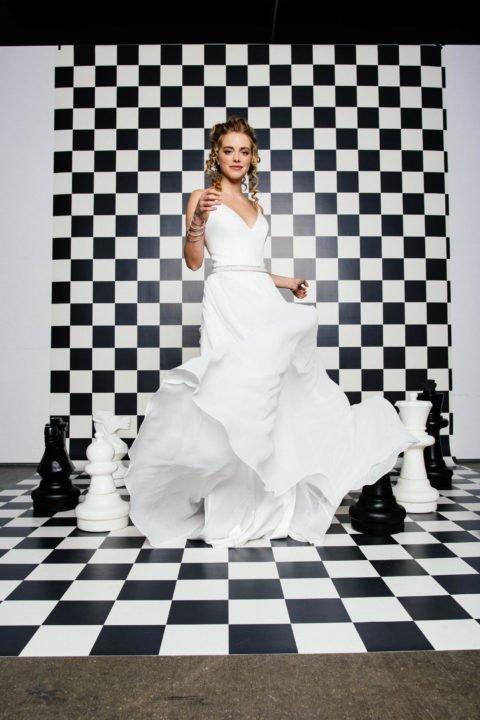puristisches Brautkleid