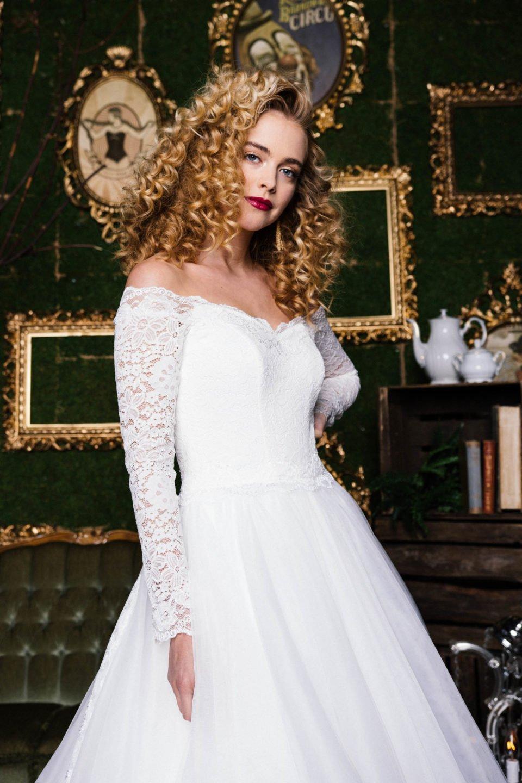 Brautkleid Langarm Spitze