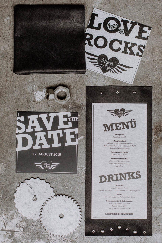 Papeterie zur Rocker Hochzeit