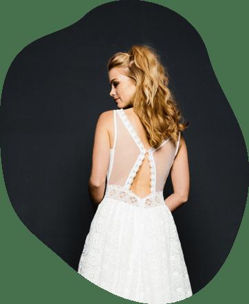 Vintage kleid weiß kurz