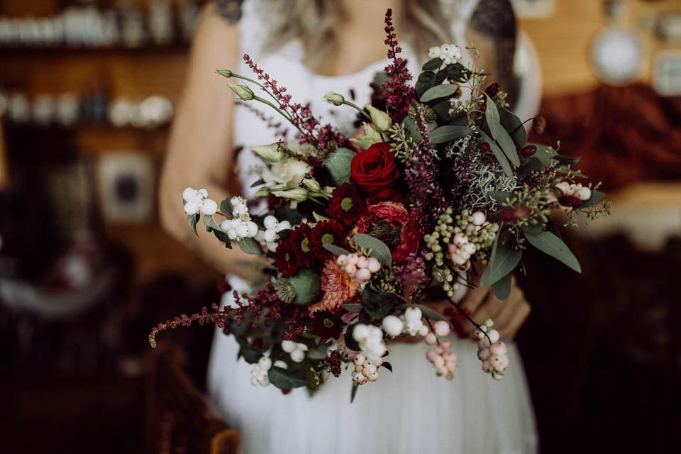 Brautstrauß bei Elopement Hochzeit