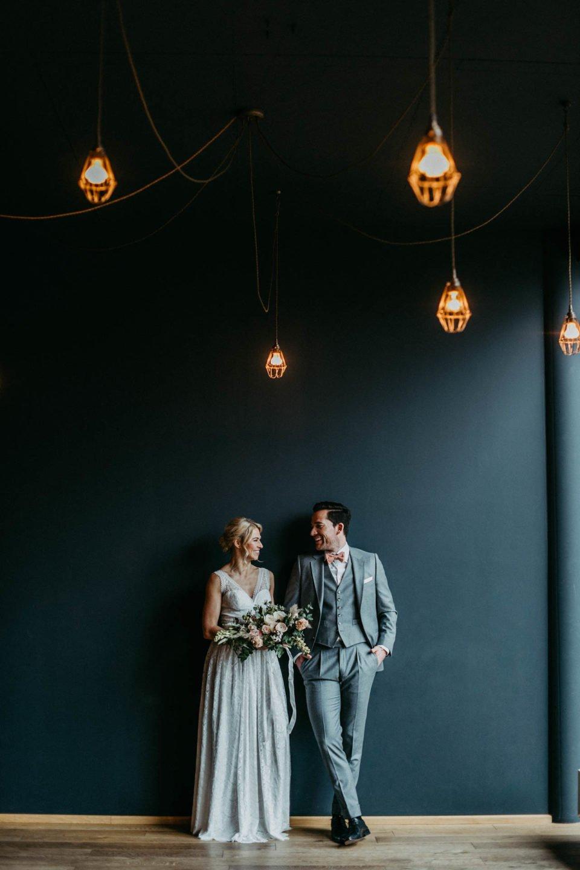 modern heiraten - Inspiration mit schönem Brautpaar im Factory Hotel Münster