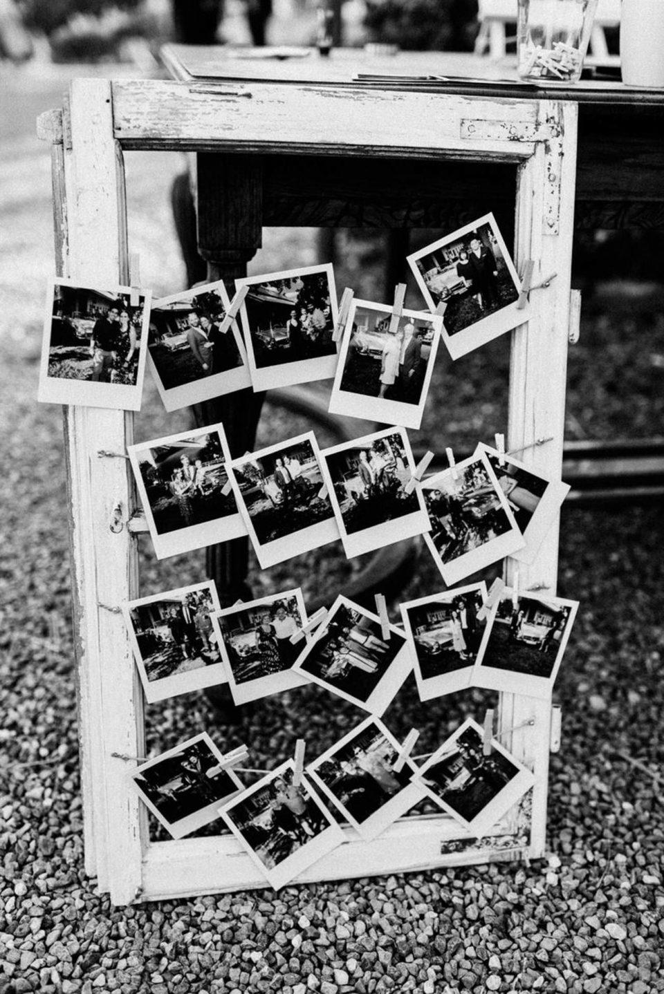 Vintage Bilderrahmen mit Polaroids