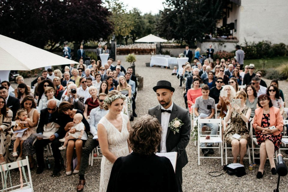Hochzeit im Freien auf Hofgut Dornsberg