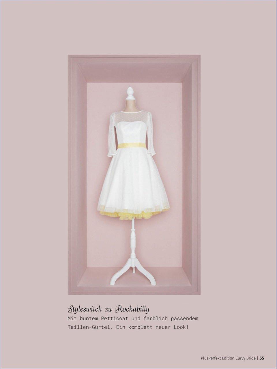 kurzes Brautkleid mit Petticoat