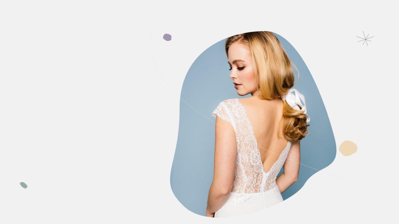 Brautkleid tiefer Rücken