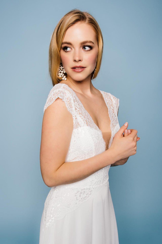 Brautkleid mit Spitzenbody