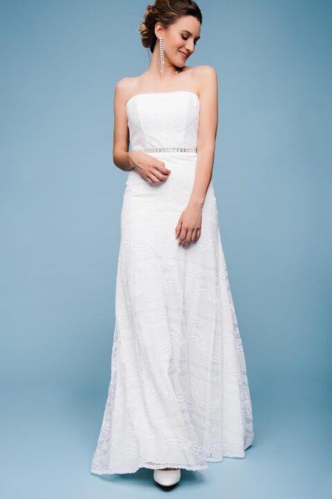 Vintage Brautkleid trägerlos