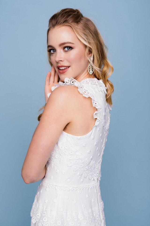 Brautkleid mit Baumwolle – Verrücktes Kleid mit Spitzenkanten – Edda
