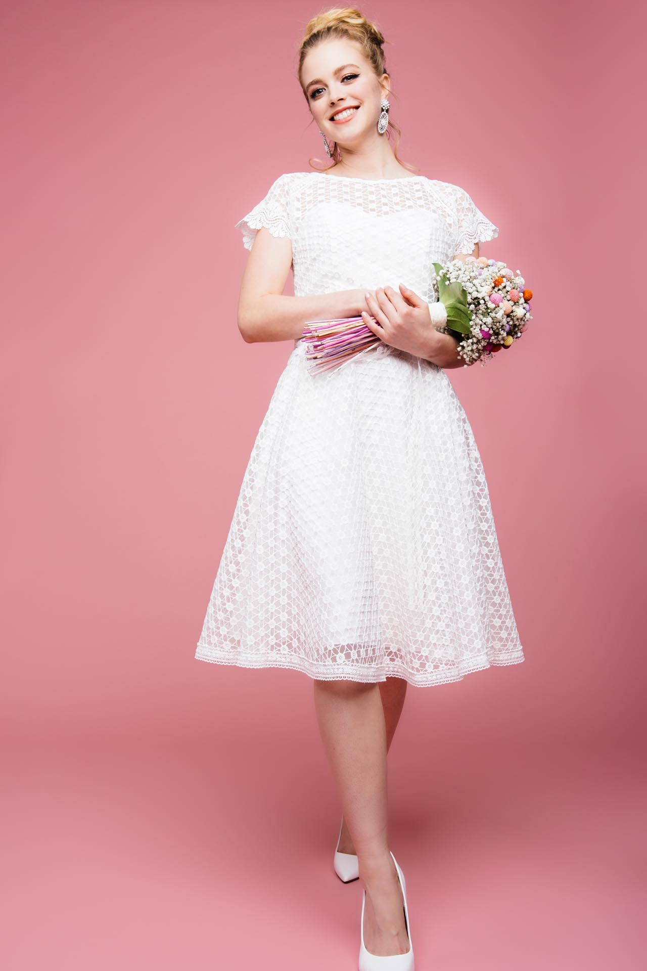 Standesamtkleid Vintage Kurz Heirate Im Flotten Gute Laune Kleid