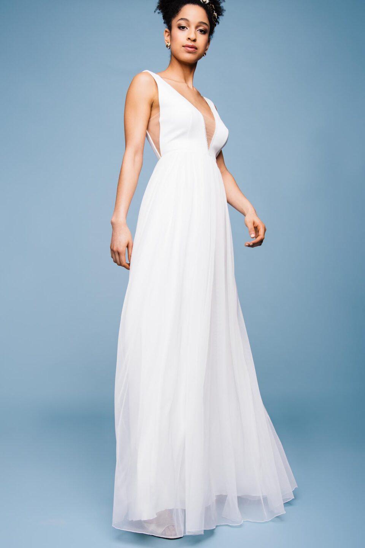 Brautkleid mit V-Ausschnitt