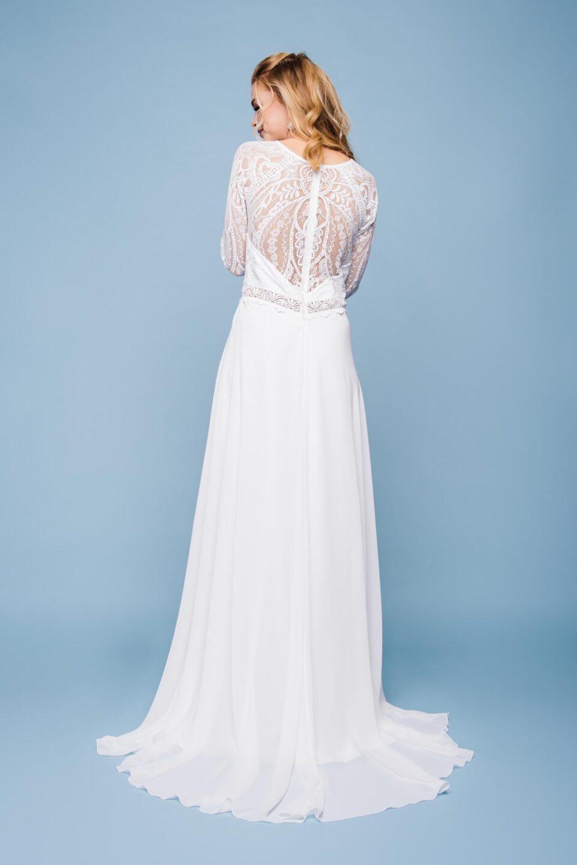 Brautkleid hochgeschlossen
