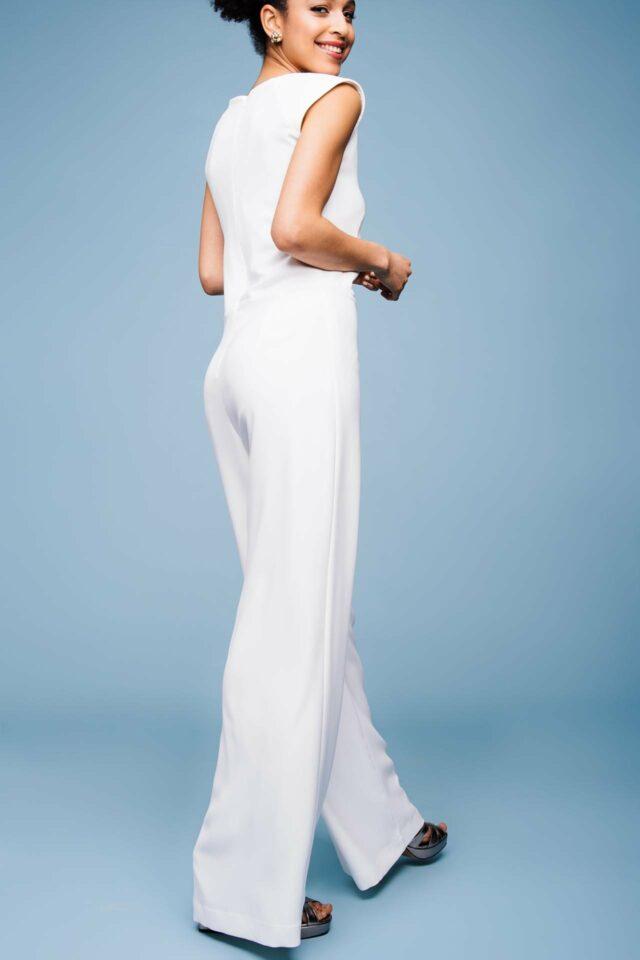 Hochzeitsoverall für mutige Bräute – Jumpsuit mit weitem Bein – Marlene
