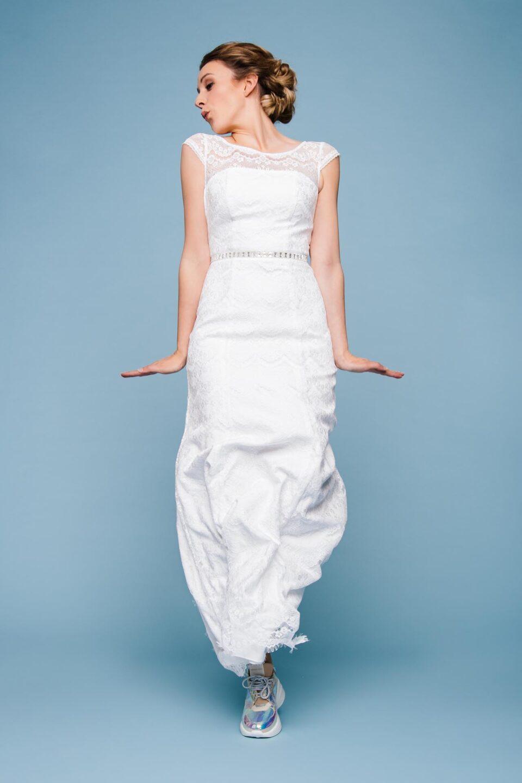 Spitzenkleid zur Hochzeit