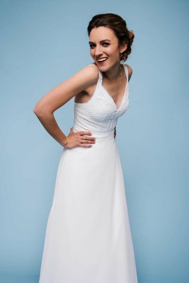 Hochzeitskleid mit Trägern