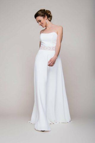 Brautkleid Zweiteiler aus Crepe