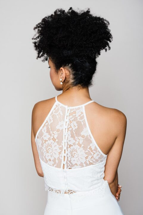 Braut Top aus Spitze mit amerikanischer Schulter