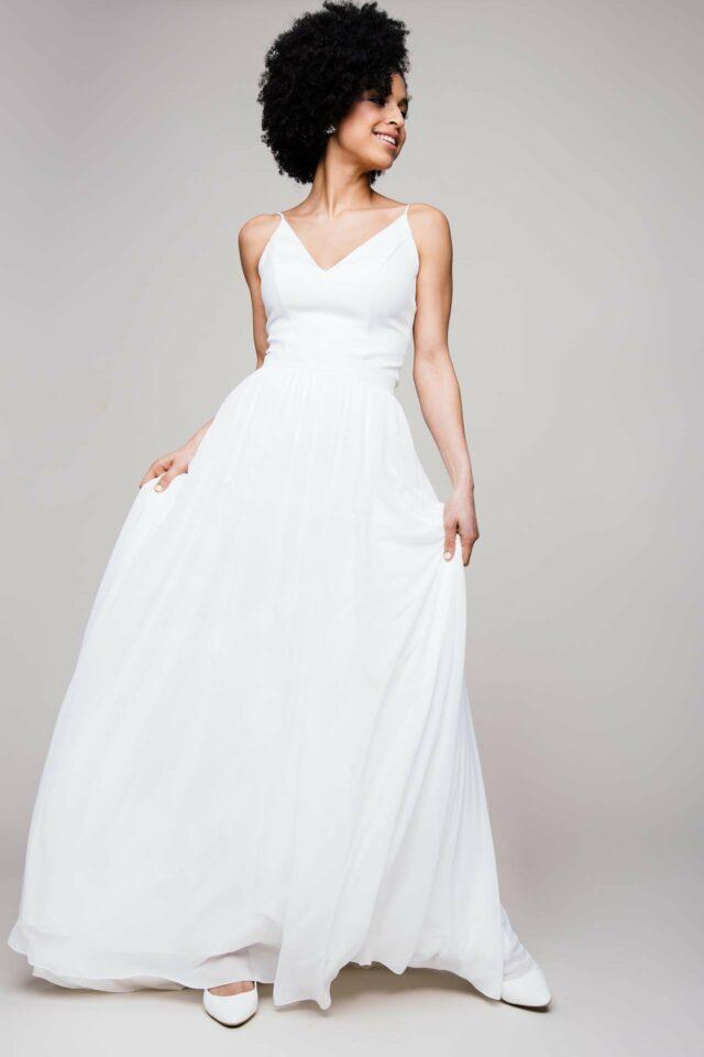 Chiffonrock zur Hochzeit – toller Zweiteiler mit Spitzentop oder ganz clean