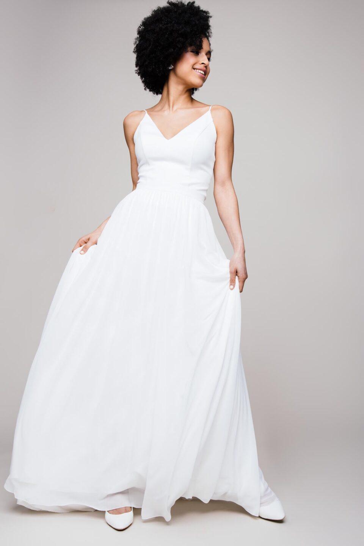 Chiffonrock Hochzeit als moderner Brautkledi Zweiteiler