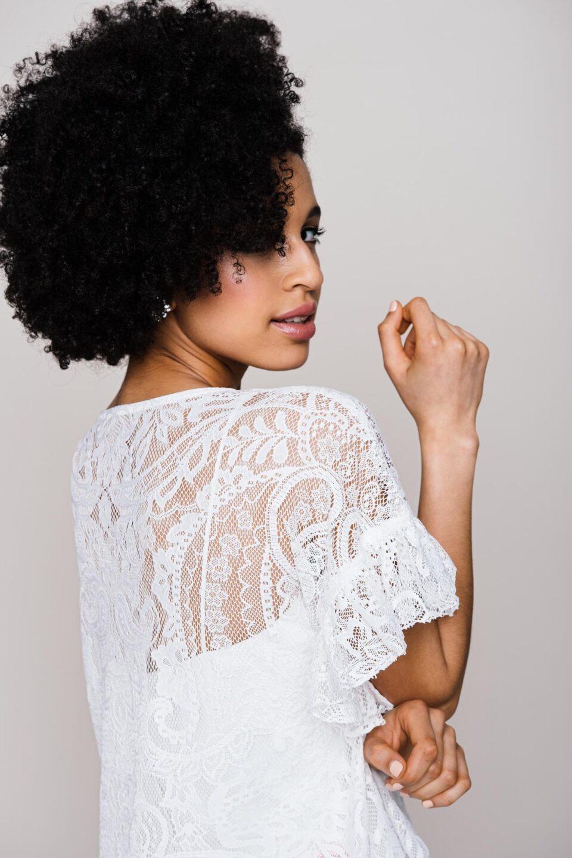 Braut Shirt mit Paisley Spitze