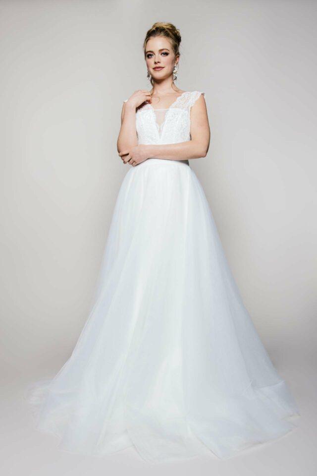 Langer Tüllrock zur Hochzeit – A-Linien Brautrock mit schönem Volumen – Zuzu long