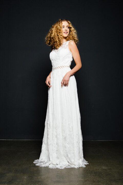 Boho Hochzeitskleid mit tollem Spitzenmix