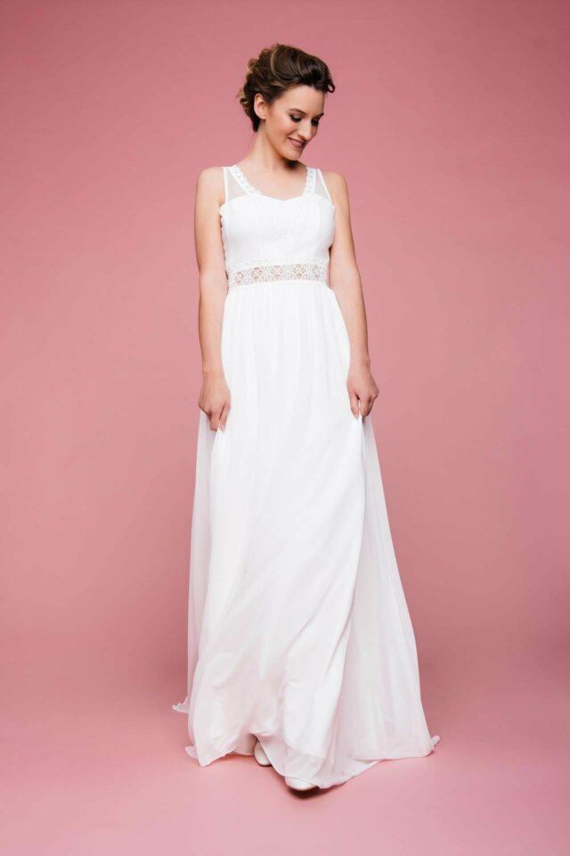 Märchenhaftes Brautkleid in A-Linie