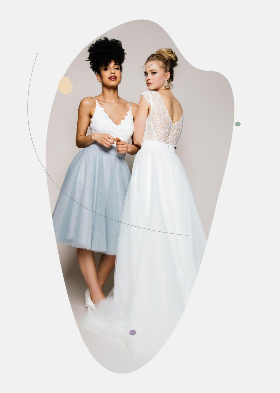 Trend Brautmode 2021: Brautkleid Zweiteiler