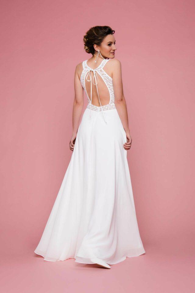 Brautkleid mit Rückenausschnitt – Boho Traum mit Spitze & viel Transparenz – Alea