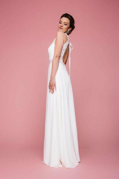 Brautkleid mit Rückenausschnitt