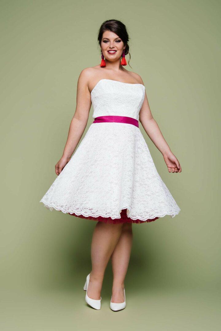 Plus Size Brautkleid kurz
