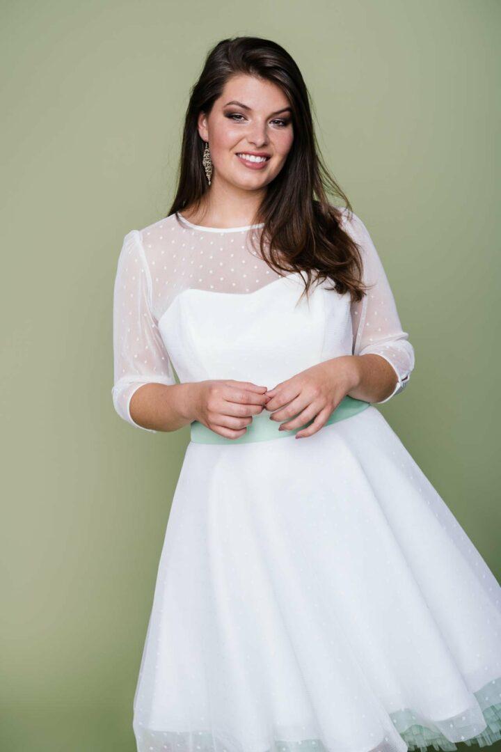 Rockabilly Hochzeitskleid bis Konfektionsgröße 52