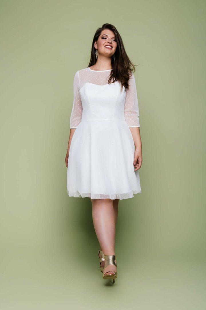 Plus Size Brautmode kurz