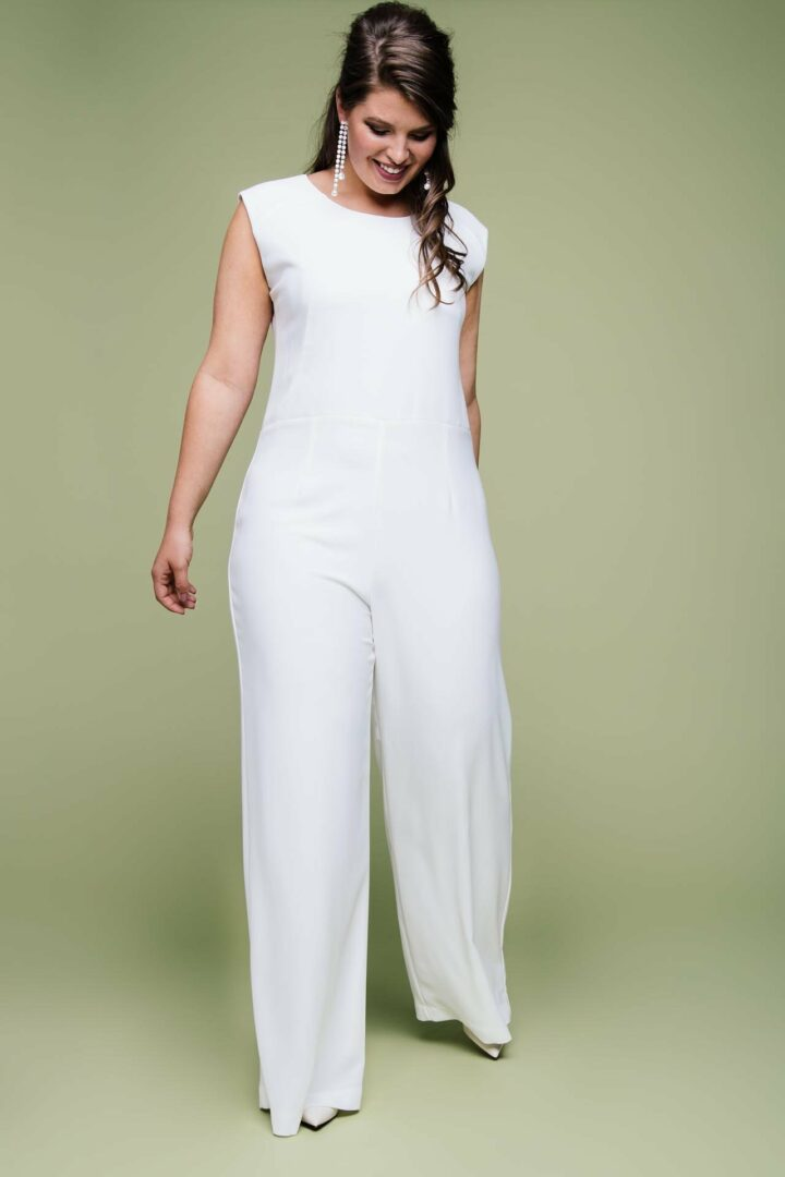 Plus Size Brautoverall