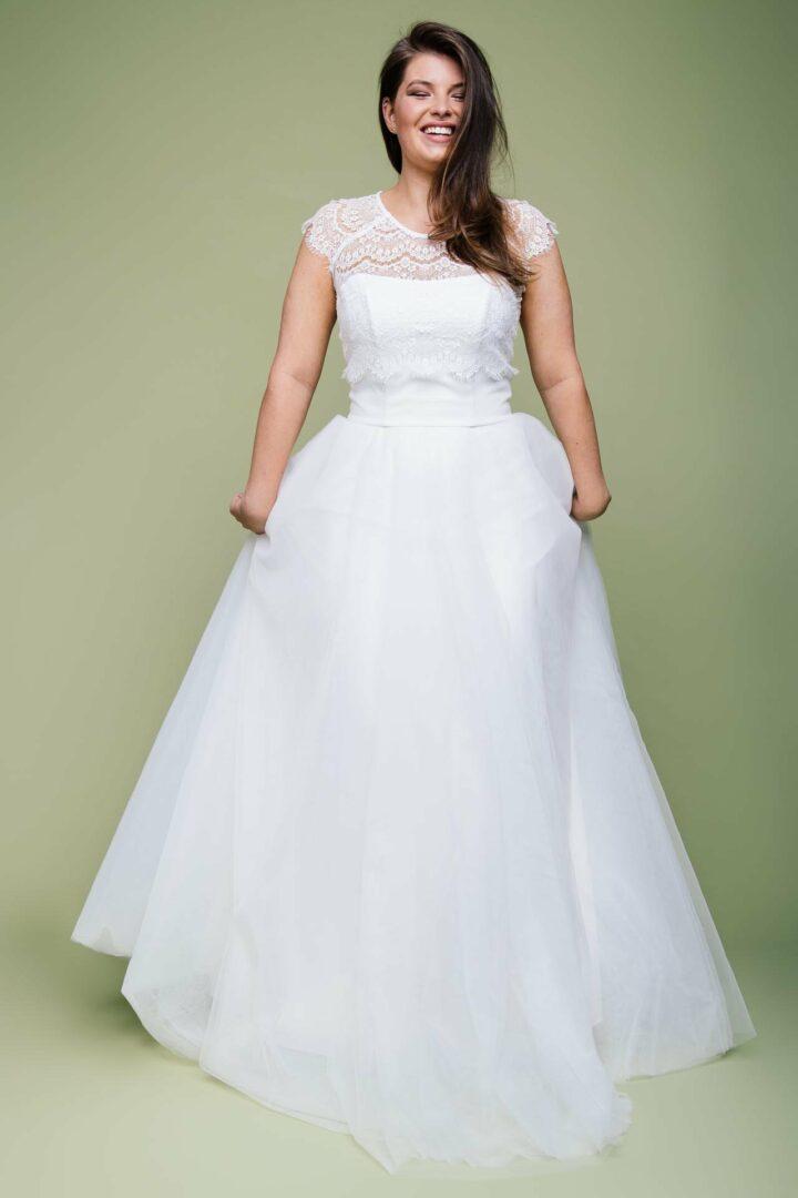 Braut Tüllrock in großer Größe mit Spitzenbolero